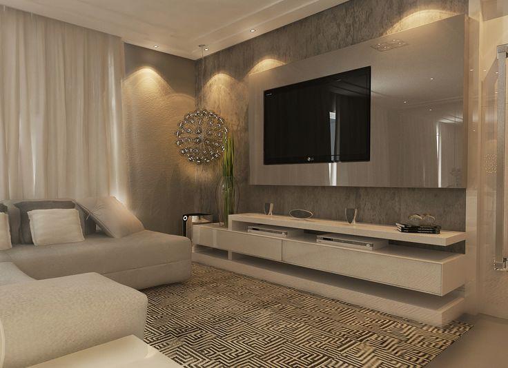 Projeto 3D de sala cliente Buogini