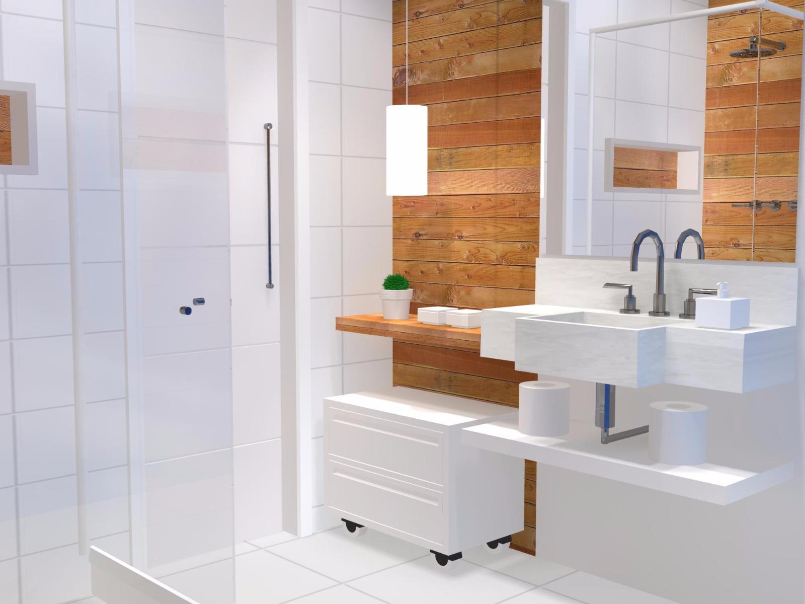 Projeto 3D de banheiro cliente Buogini